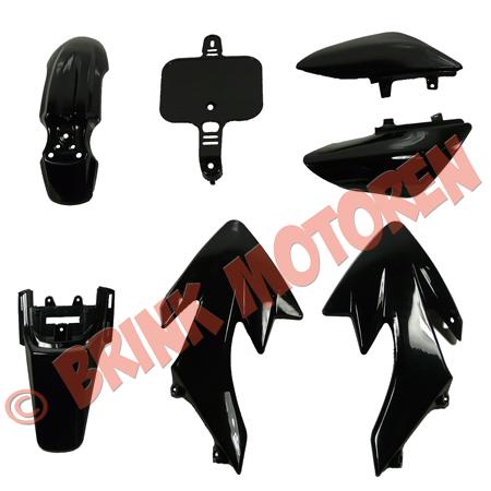 Pitbike Dirtbike kappenset CRF 50 model alle kappen zwart (1)