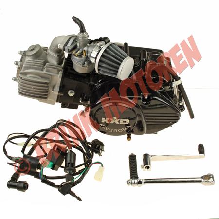4-takt Pitbike Dirtbike motor blok KXD 125cc kompleet  (1)
