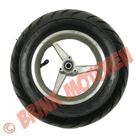 Minibike Pocketbike achterwiel met profielband  (1)