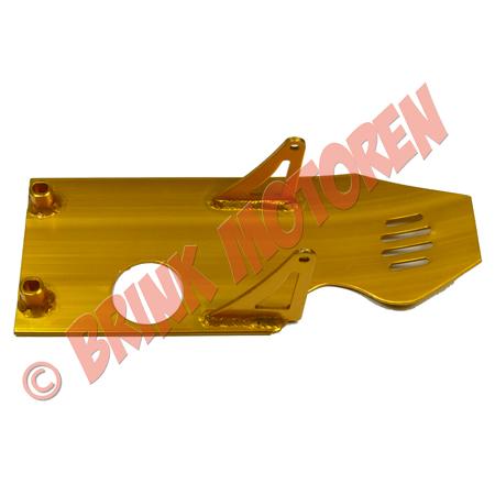 Pitbike Dirtbike bodemplaat alu geel (1)