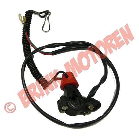 Minibike Minicrosser dodemans knop met koord (1)