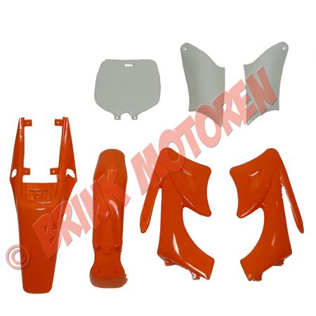 Minicrosser Minidirtbike kappenset oranje (1)