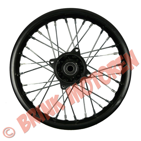 Dirtbike Pitbike achtervelg 10 inch zwart 15mm as (1)