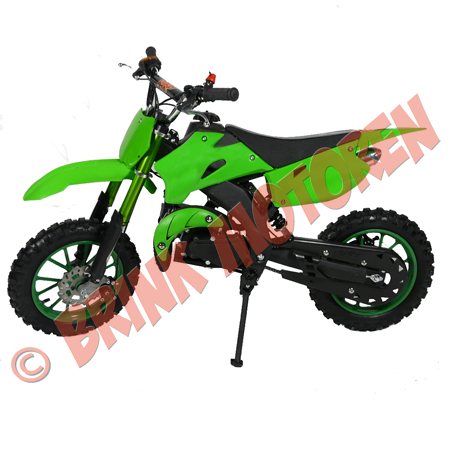 Minicrosser Mini dirt bike 2takt 49cc KXD 708 groen (1)
