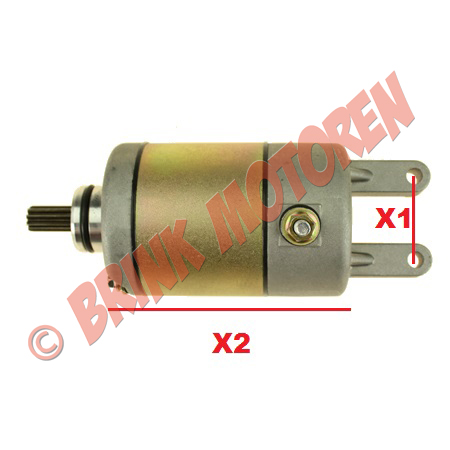 Startmotor voor GY6 YP 250cc (1)