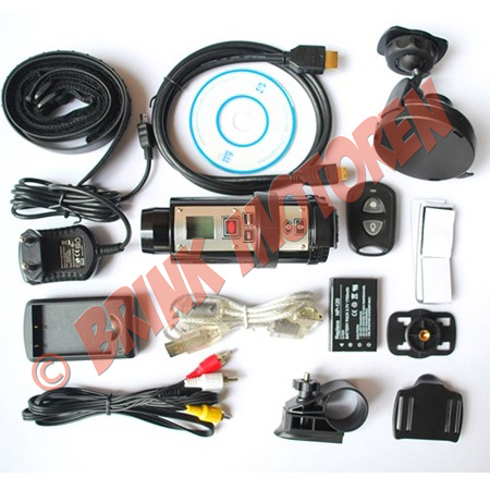 Helm sport camera HD 720P met afstandbediening ...