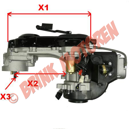 Scooter tuning motorblok GY6 80cc 139QMB voor 10 inch wiel (1)