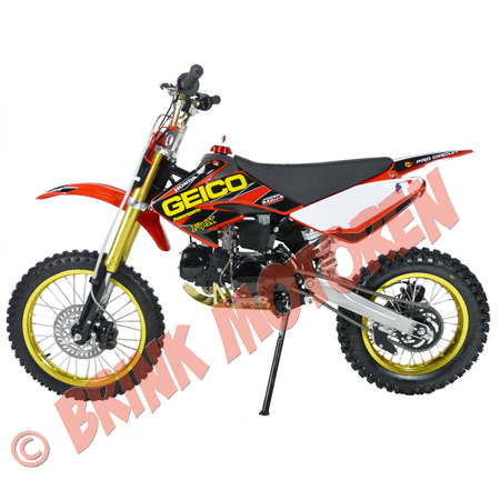 Pitbike Dirtbike BM Lifan125cc rood special model (1)