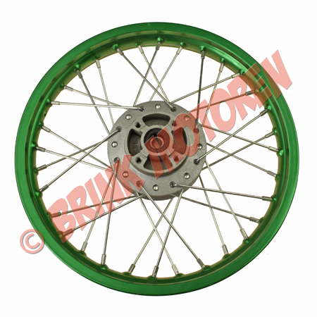 Pitbike Dirtbike voorvelg 14 inch groen (1)